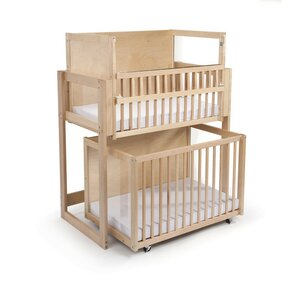 space saver 2 level crib with mattress