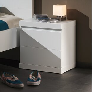 Free Shipping Bridges 2 Drawer Bedside Table
