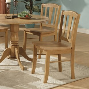 August Grove Spruill Solid Wood Dining Chair (Set of 2)