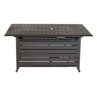 Breakwater Bay Barre Aluminum Propane Fire Pit Table