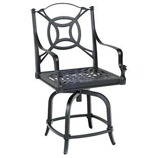 Woodard Isla Swivel Counter Patio Bar Stool