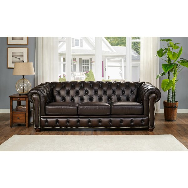 Bon Fleur De Lis Living Katharine Top Grain Leather Sofa U0026 Reviews | Wayfair