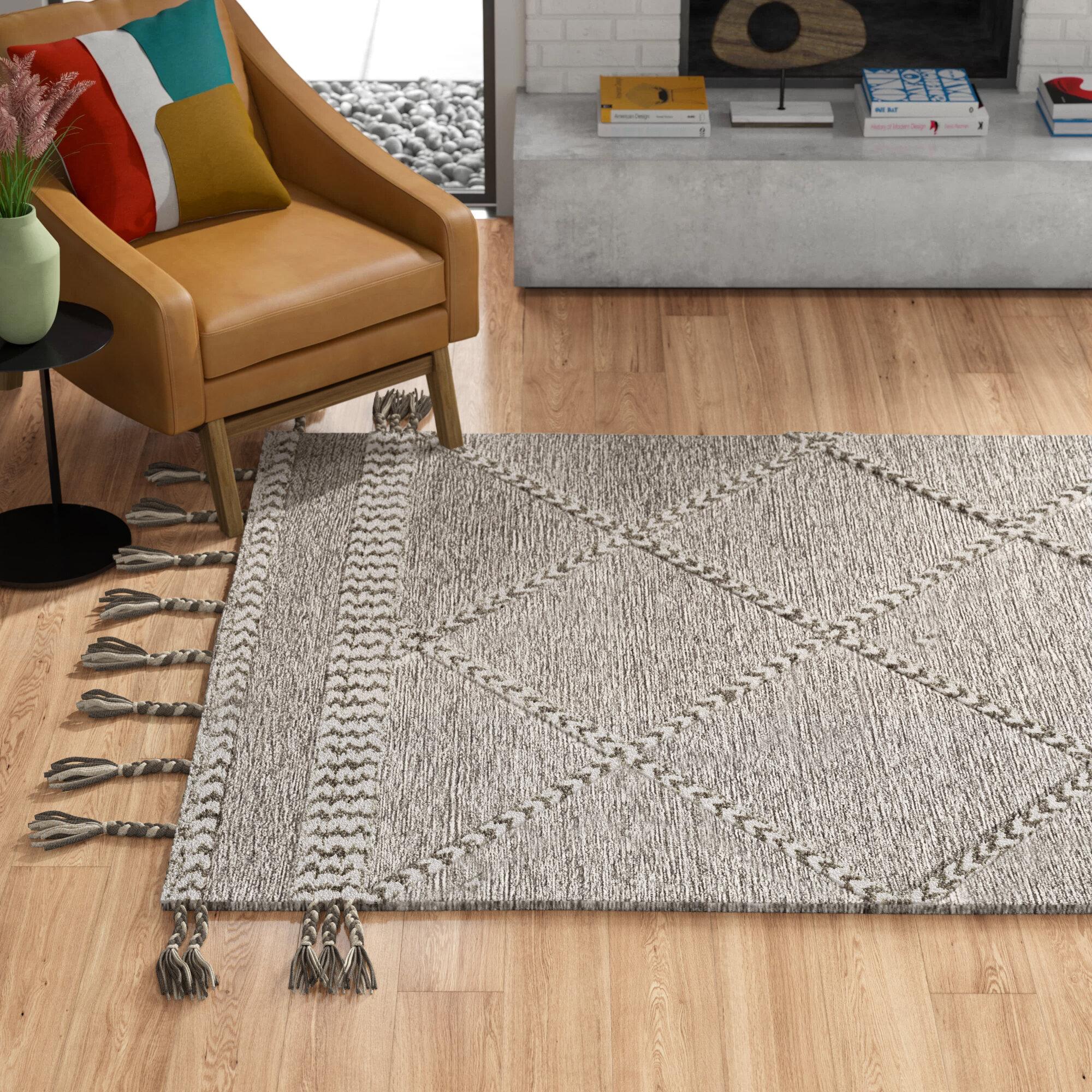 Dade Oriental Handmade Tufted Wool Gray Area Rug Reviews Allmodern