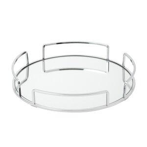 Erela Modern Round Design Mirror Vanity Tray