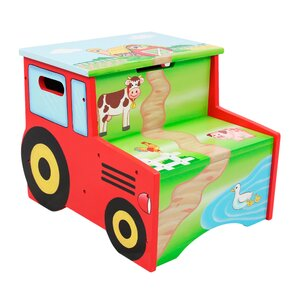 Happy Farm Kids Step Stool with Storage by Fantasy Fields