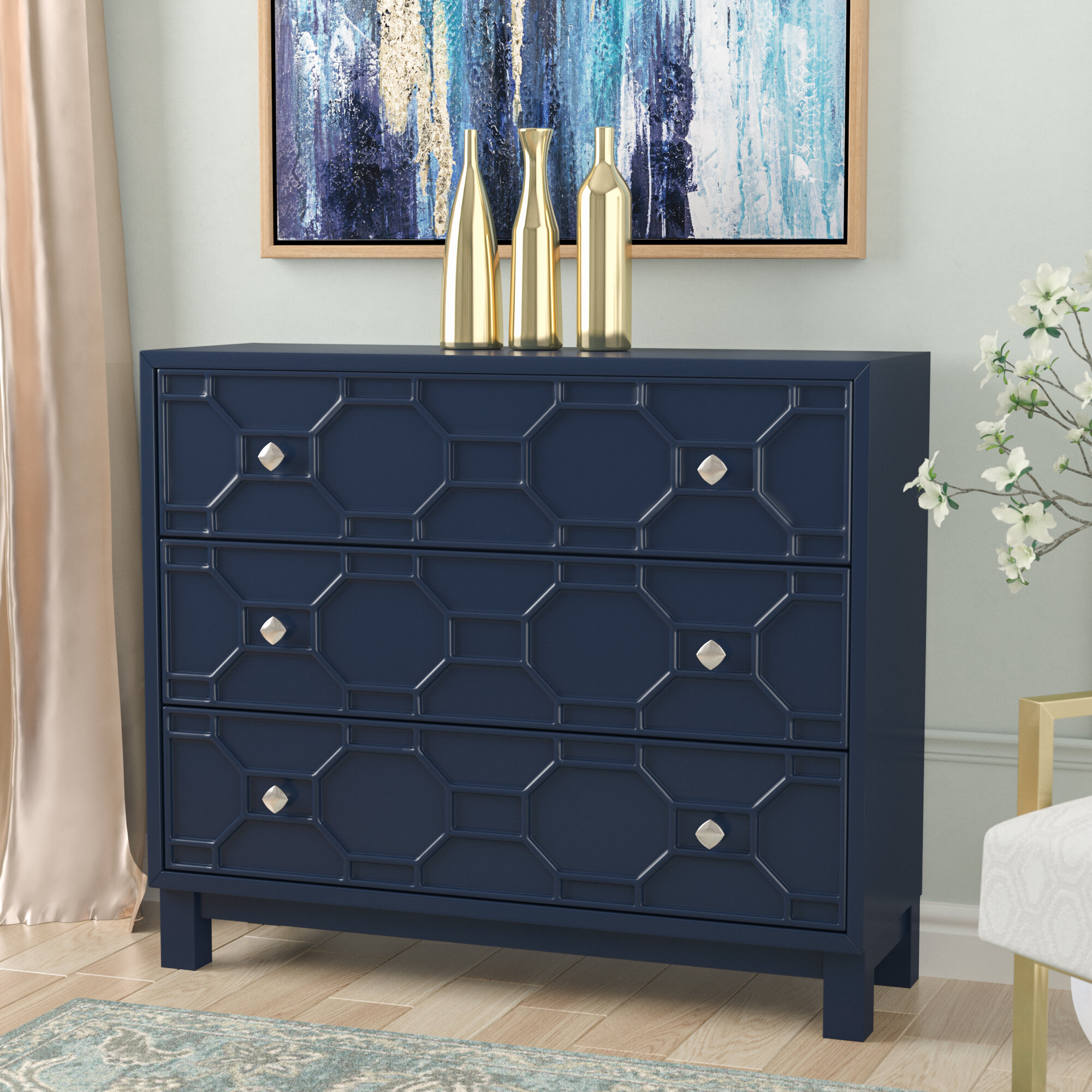Willa arlo interiors rosen 3 drawer accent chest reviews wayfair