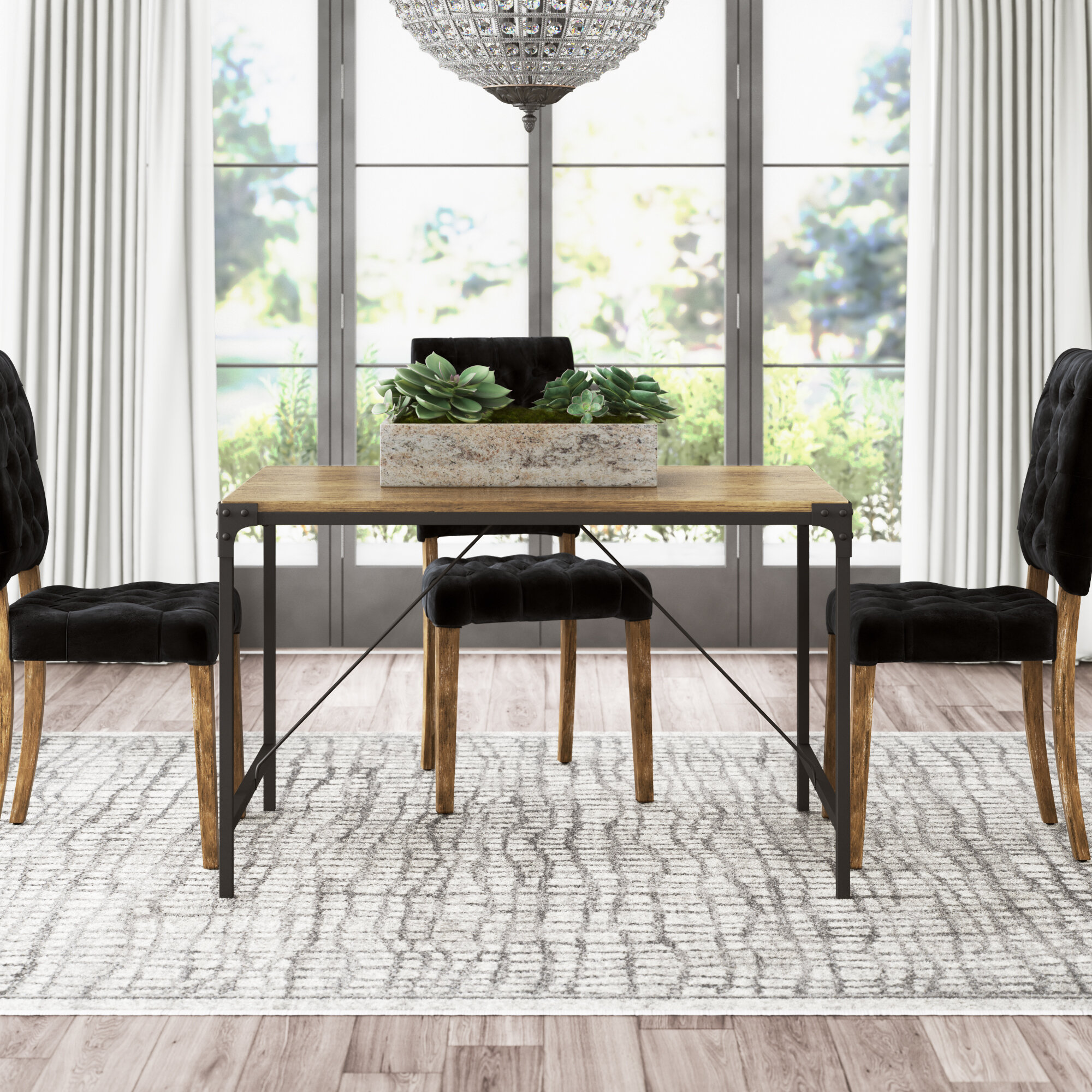 Black Wood Kitchen Dining Tables You Ll Love In 2021 Wayfair