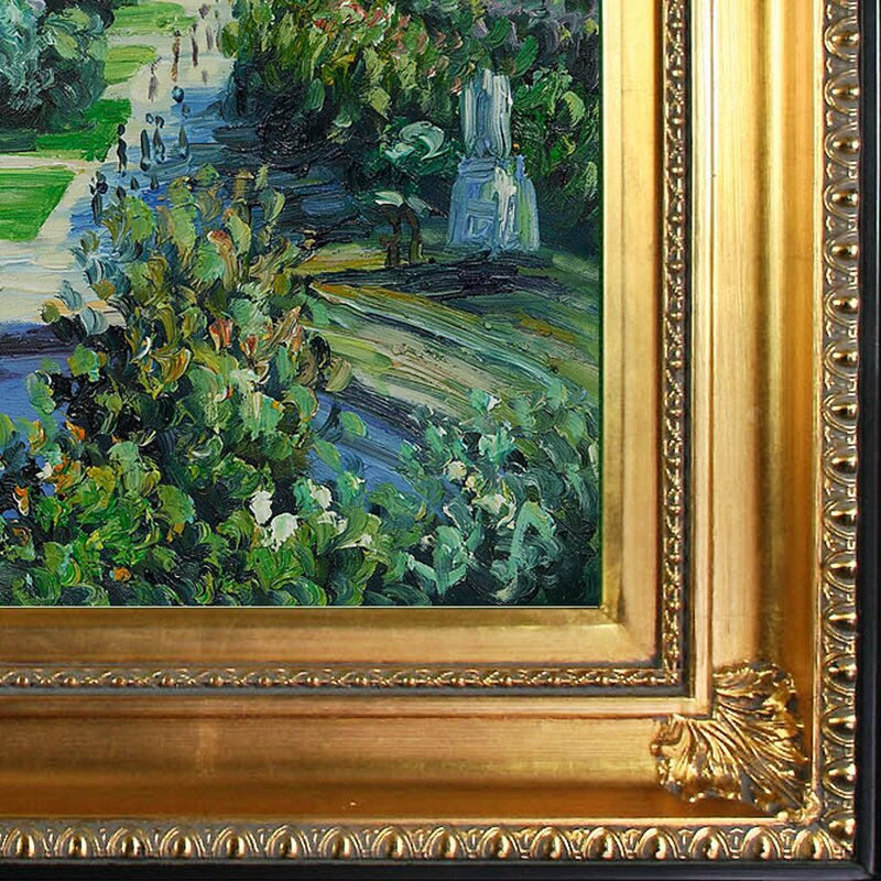 'Les Tuileries, 1876, Musee Marmottan' Canvas Art by Claude Monet Impressionism in Regency Gold Frame