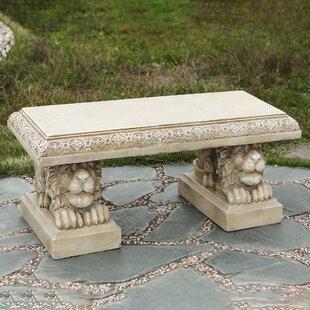 Rafaela Dragon Cement Garden Bench by Astoria Grand