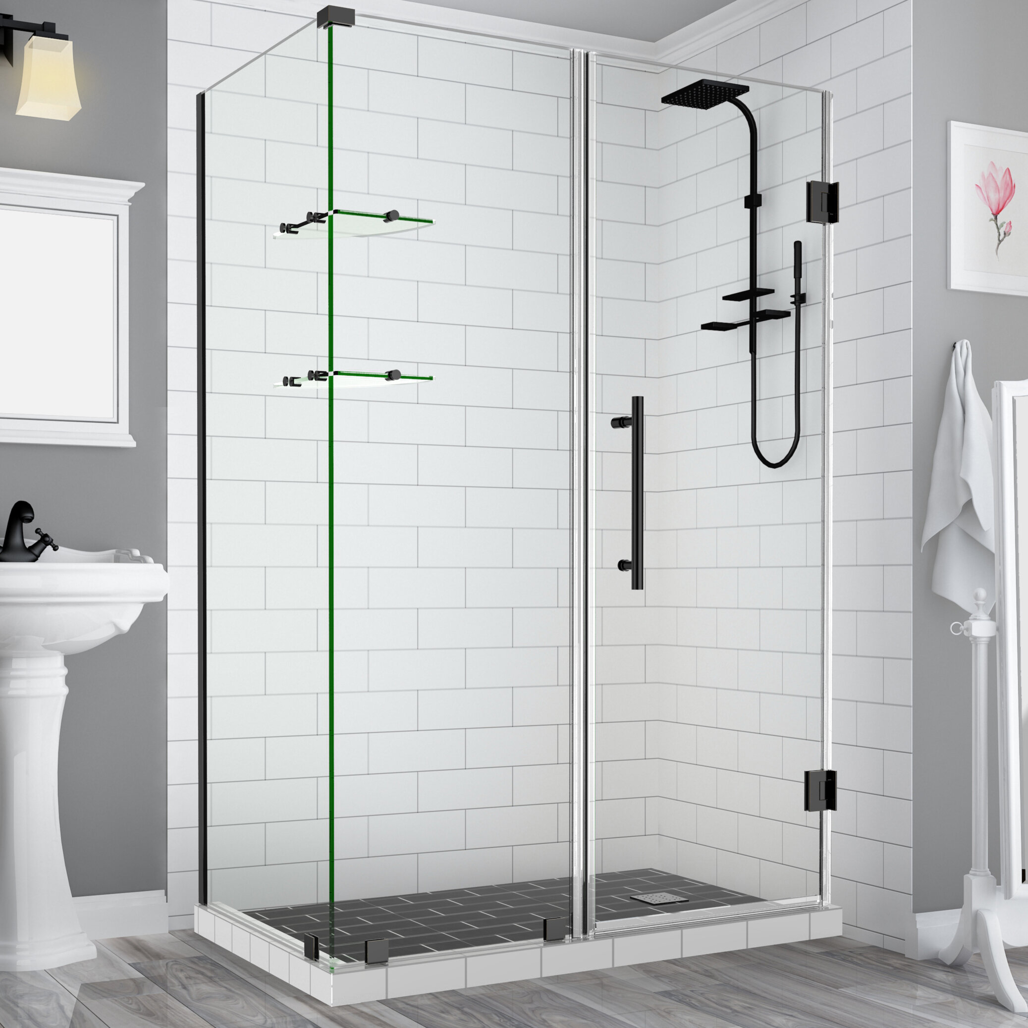 Aston Bromley Gs 34 X 72 Rectangle Hinged Shower Enclosure Reviews Wayfair