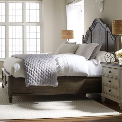 Lark Manor Bruyere Storage Platform Bed Colour: Rustic Dark Elm, Size: California King