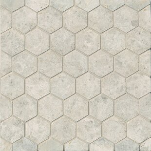 Hexagon Marble Mosaic Tile In Sebastian Grey