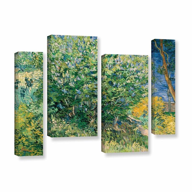 Vault W Artwork Lilacs By Vincent Van Gogh 4 Piece Painting Print On Wrapped Canvas Set Wayfair
