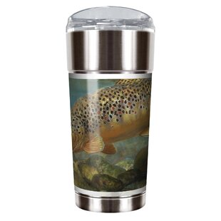 Mark Susinno's Brown Trout 24 oz. Stainless Steel Travel Tumbler