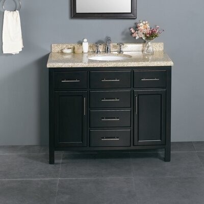 "Bathroom Vanities Nashville Tn ove decors milan 42"" single bathroom vanity set & reviews 