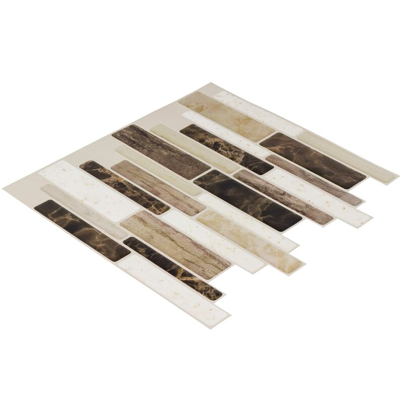 Mosaictileoutlet 10 X 10 Vinyl Peel Stick Mosaic Tile In Beige Brown Reviews Wayfair