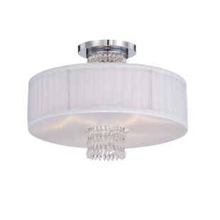 Designers Fountain Candence 3-Light Semi Flush Mount