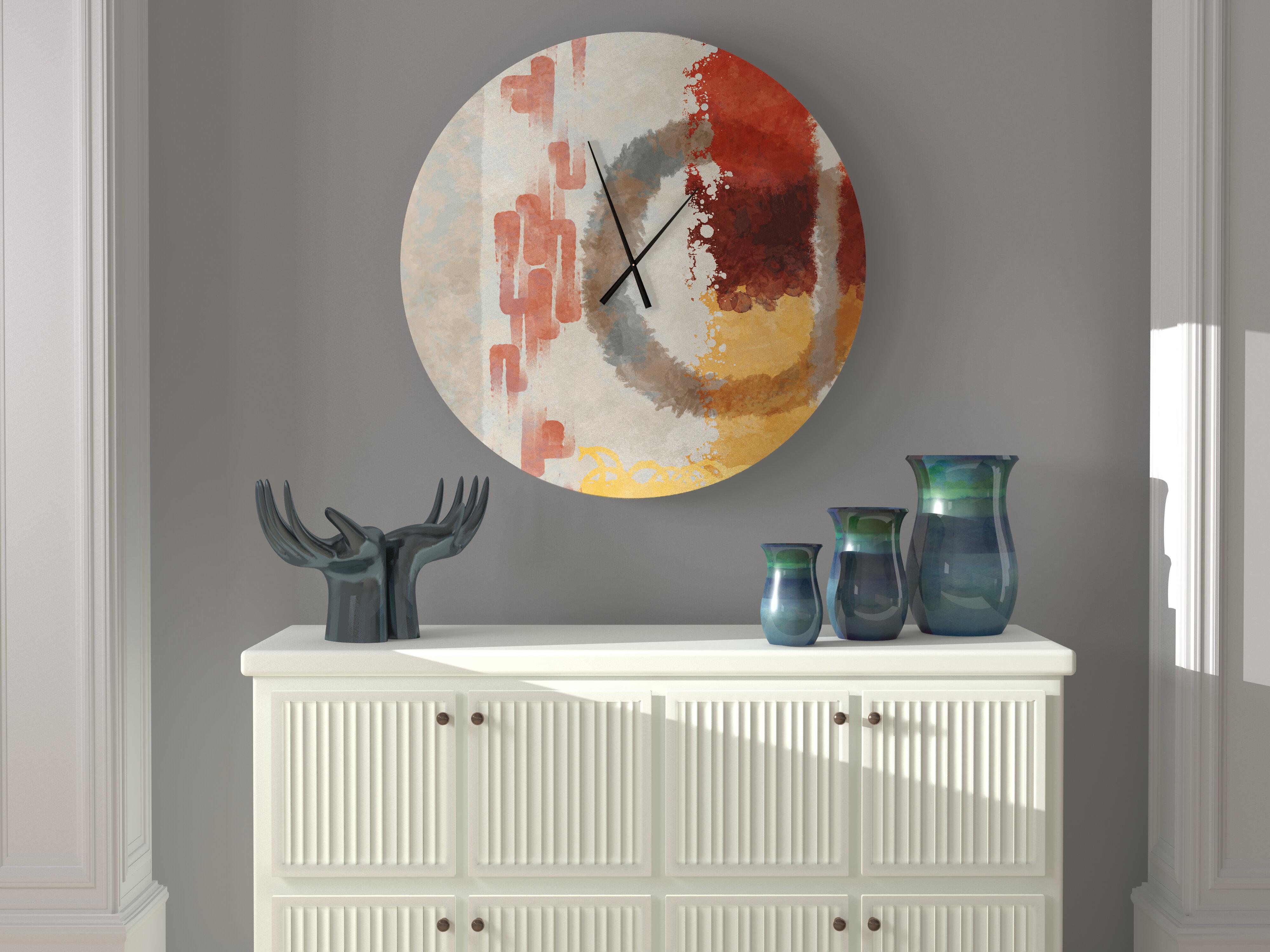 Ebern Designs Honest Affecting Abstract Wall Clock Wayfair