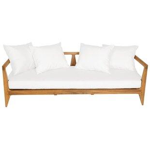 Limited Teak Patio Sofa with Cushion
