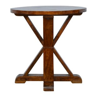 Patillo Round Solid Wood Dining Table Loon Peak