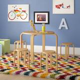 Kahn Kids 5 Piece Round Table and Stool Set by Mack & Milo