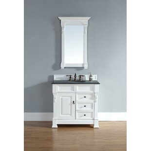 Bedrock 36 Single Cottage White Bathroom Vanity Set With Drawers