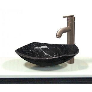 Transolid Joelle Stone Specialty Vessel Bathroom Sink