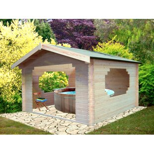Partone 11 X 11 Ft. Tongue And Groove Log Cabin By Sol 72 Outdoor