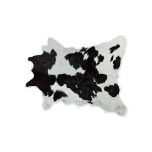 Affordable Coggins Cowhide Black/White Area Rug By Union Rustic