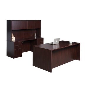 Fabiano Contemporary 4 Piece Office Set with Hutch