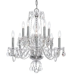 Reviews Catchings 10-Light Crystal Chandelier By House of Hampton