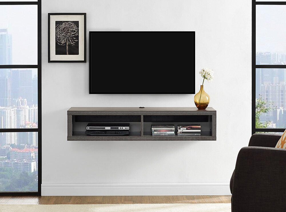Martin Home Furnishings 48 Shallow Wall Mounted TV Component