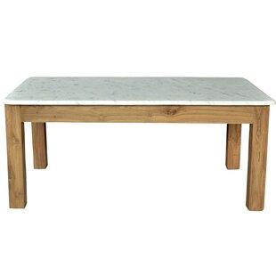 Easterling Teak/Marble Coffee Table by Brayden Studio