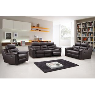 Kreger Air Reclining 3 Piece Leather Living Room (Set of 3)