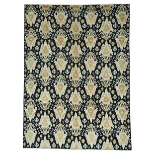 Read Reviews One-of-a-Kind Graybill Ikat Oriental Hand-Knotted Black Area Rug ByWorld Menagerie