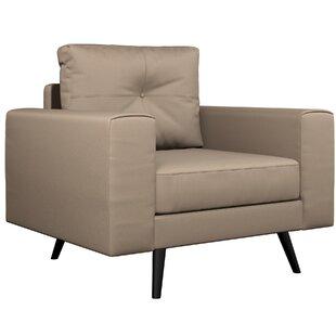Best Price Binns Vegan Leather Armchair by Corrigan Studio