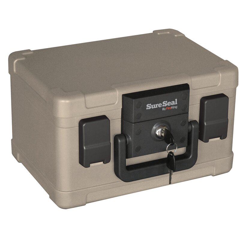 SureSeal 1/2 Hour Fireproof and Waterproof Safe Box with Key Lock