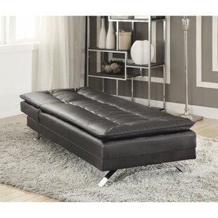 Orren Ellis Catargiu Comfortably Tufted Leather Chaise Lounge