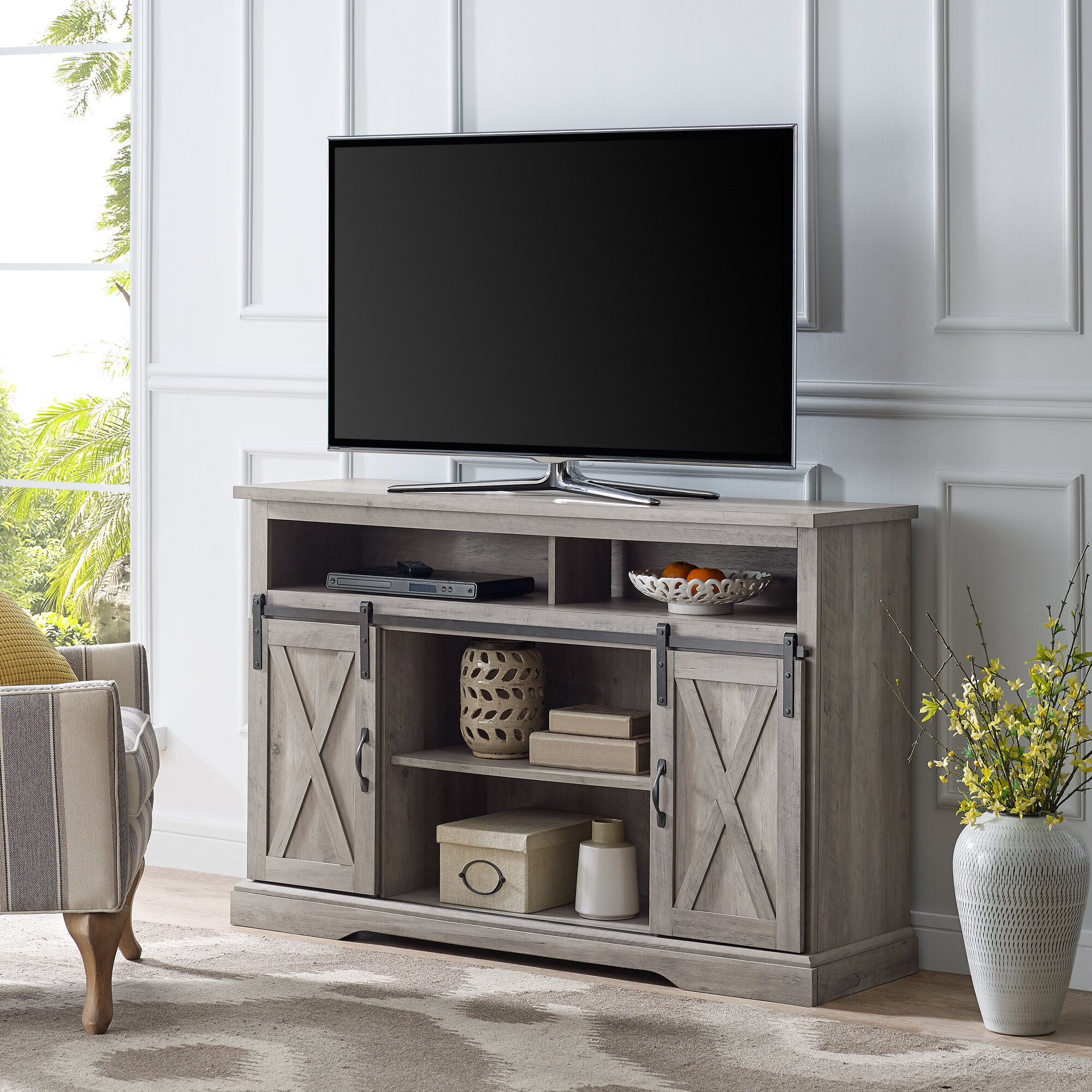 the best attitude 2c41a 3bbae Laurel Foundry Modern Farmhouse Berene TV Stand for TVs up ...