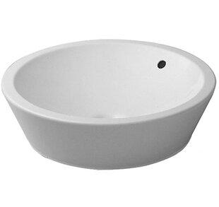 Duravit Starck 1 Ceramic Circular Vessel Bathroom Sink with Overflow