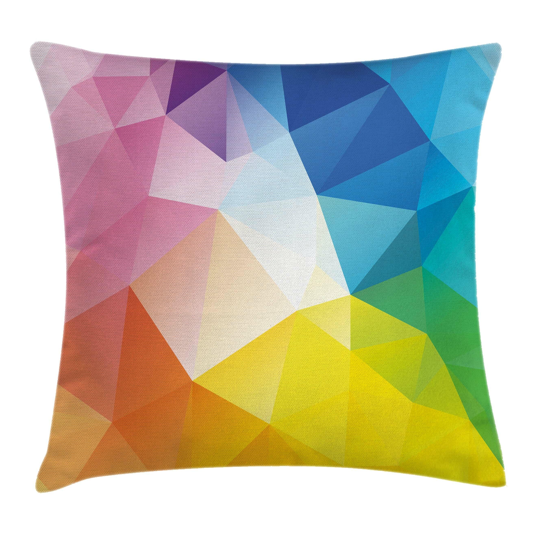 Star Shape Polygon Design Yellow Tones Sofa Cushion Cover Pillow Case Home Decor