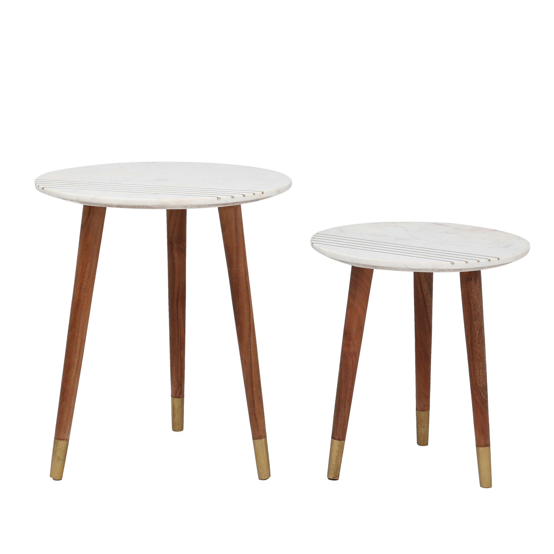 Gold Flamingo Bonnie 3 Legs Nesting Tables Reviews Wayfair