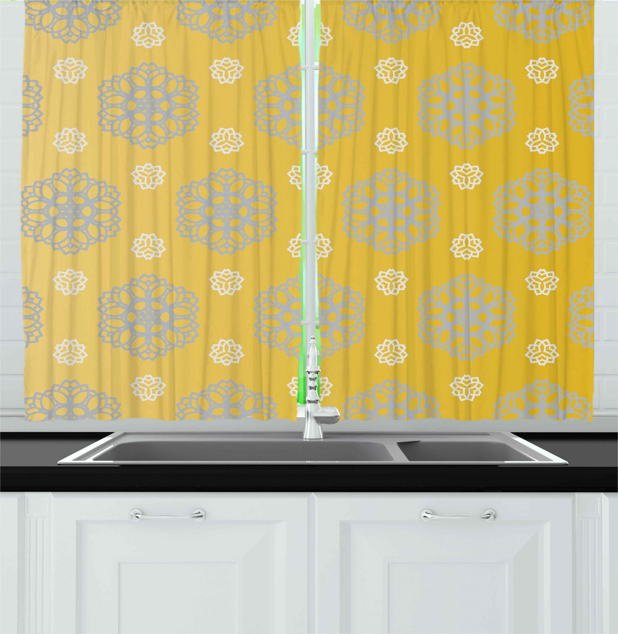 East Urban Home Kitchen Curtains Kitchen Curtain Wayfair