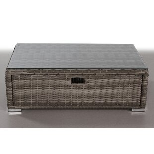 Crispin Wicker Coffee Table by Rosecliff Heights #2