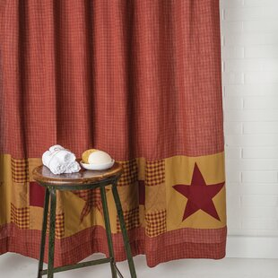 Silverthorne Cotton Single Shower Curtain with Patchwork Border