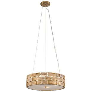 Bloomsbury Market Paisleigh 3-Light Drum Pendant