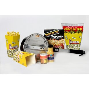 128 Oz. Open Fire Outdoor Popcorn Party Set by Wabash Valley Farms #2