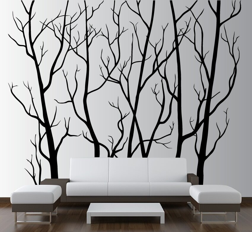 Tree Forest Branches With Birds Wall Decal Part 87