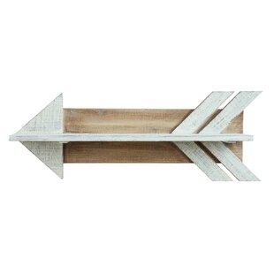 Lorusso Wood Arrow Shaped Shelf by Union Rustic