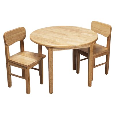 Zoomie Kids Damato Kids 3 Piece Table and Chair Set Color: Natural